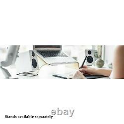 Kanto Audio Yu2 Powered Desktop Speakers PAIR White Active PC Mac USB