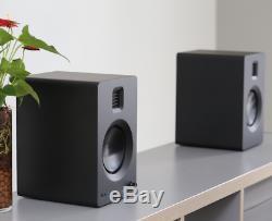 Kanto TUK Premium Active Powered Bluetooth AptX HD Speakers Matte Black Pair