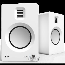 Kanto TUK Premium Active Powered Bluetooth AptX HD Speakers Matte White Pair