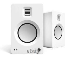 Kanto TUK Premium Active Powered Bluetooth AptX HD Speakers White Pair