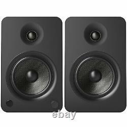 Kanto YU6 2-Way Powered Bookshelf Speakers Set PAIR Black Active Compact 100w