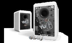 Kanto YU6 2-Way Powered Bookshelf Speakers Set PAIR White Active Compact 100w