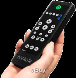 Kanto YU6 Active Speakers Powered Bookshelf- PAIR Walnut Bluetooth Phone Amp