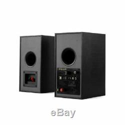 Klipsch R-41PM Powered Active Bluetooth Bookshelf Speaker Pair with Phono Input