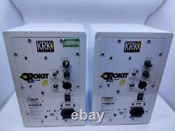Krk Rokit 5 Rpg2 Active Monitors PAIR Speakers Powered Studio Monitor WHITE