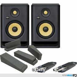 Krk Rokit RP5 G4 Active Powered DJ Studio Monitors (Pair), Iso Pads & Leads