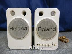 MA-8 Stereo Micro Monitor Speakers Active Powered Studio Pair 100V ROLAND
