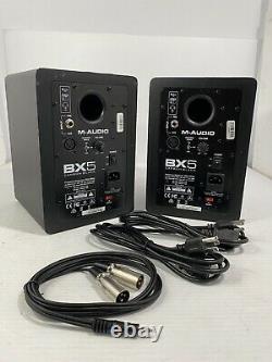 M-Audio BX5 Carbon Black 5 inch Powered Studio Monitors Pair