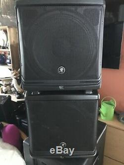 Mackie DLM 12 2000w active/powered speakers (PAIR)