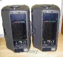 Mackie Pair Of Srm450 V2 Pa Active Speakers & Power Leads Good Working Condition