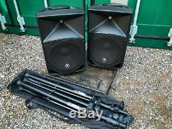 Mackie Thump 12A Active PA speaker pair with stands, carry cases & power leads
