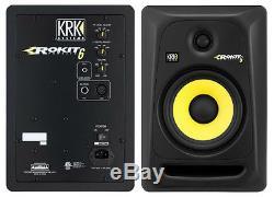 NEW KRK Rokit 6 Generation 3 Powered Studio Monitor PAIR ROKIT6G3 6 Speaker