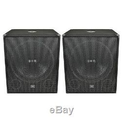 New QTX Sound QT18SA 1000W 18 Active Powered Bass Bins Subs Subwoofers PAIR