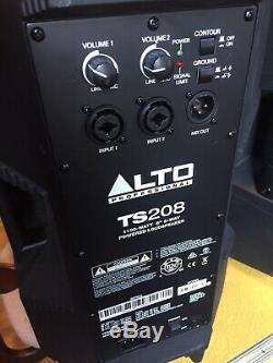 PAIR Alto TS208 Pro 1100 Watt 8 2-Way Active Powered DJ PA Loudspeaker Speakers