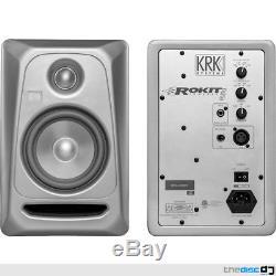PAIR KRK Rokit RP5 G3 Platinum Active Powered Studio DJ Monitors Pads & Cables