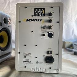 PAIR OF KRK Rokit 6 RPG2 Powered 6 Speakers Studio Monitors White