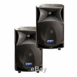 PAIR USED FBT ProMaxx 14a Active Powered Speakers with padded covers
