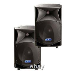 PAIR USED FBT ProMaxx 14a Active Powered Speakers with padded covers # 33275