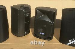PAIR USED FBT ProMaxx 14a Active Powered Speakers with padded covers 33275 #1