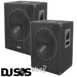 PAIR (X2) QTX QT15SA 15 Active Powered 600W DJ PA Subwoofer Sub Party Club Bass