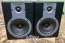 PAIR of M-Audio BX5a Active Studio Monitors Powered Speakers #383