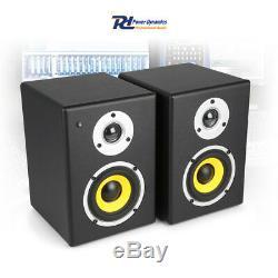 PDSM Pair 4 Active Powered Studio DJ Montors Speakers, Floor Stands and Pads