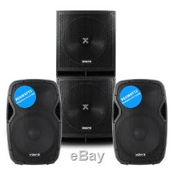 Pair Active Powered AP-15 DJ PA Speakers + 18 Bass Bin Subwoofers4000w Peak