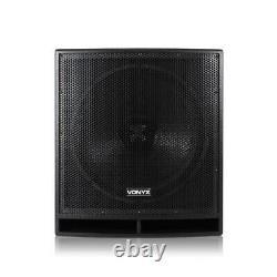 Pair Active Powered AP-15 DJ PA Speakers + 18 Bass Bin Subwoofers4000w Peak
