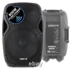 Pair Active Powered AP-15 Speakers 18 Bass Bin Subwoofers4000w Peak UK Stock