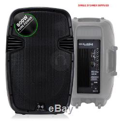 Pair Active Powered RS-15 DJ PA Speakers + 18 Bass Bin Subwoofers4000w Peak