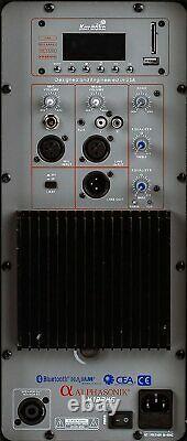 Pair Alphasonik All-in-one 8 Powered 800W PRO DJ Amplified Loud Speakers