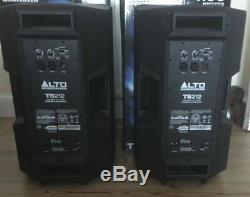 Pair Alto TS212 Powered Active PA Speakers in Boxes FRFR Used For Line 6 Helix