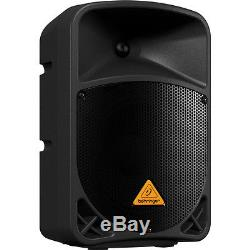 Pair Behringer B108D 8 300W 2-way Powered PA Speakers with Stands Cables DJ