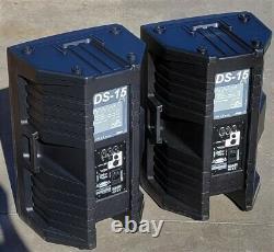 Pair DAS DAS-15A Portable Pro Sound 2 Way 15 Powered Speakers
