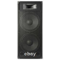 Pair Dual 15 Active Powered DJ Speakers System Skytec CSB215 3200W SSC2877