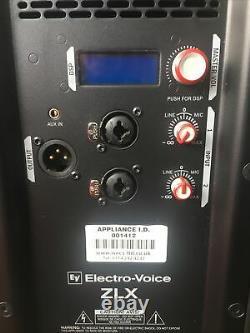 Pair Electro-Voice ZLX15P EV 15 1000 Watt Active Powered PA Speakers