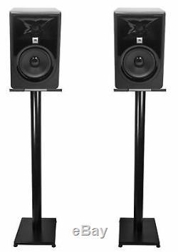 Pair JBL 305P MkII 5 Powered Studio Monitor Monitoring Speakers+37 Stands