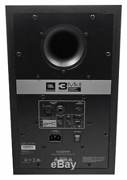 Pair JBL 306P MkII 6 Powered Studio Monitor Monitoring Speakers+29 Stands