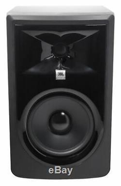 Pair JBL 306P MkII 6 Powered Studio Monitor Monitoring Speakers+37 Stands
