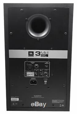 Pair JBL 308P MkII 8 Powered Studio Monitor Monitoring Speakers+37 Stands