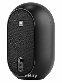 Pair JBL One Series 104 Powered Studio Monitors+8 Wood Desktop Speaker Stands
