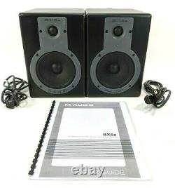 Pair M-Audio Powered Studiophile BX5a Deluxe Studio Reference Monitor Speakers