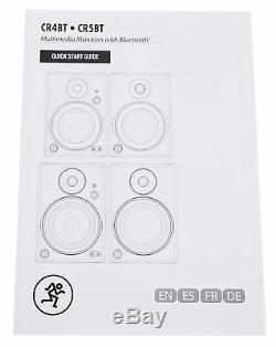 Pair Mackie CR4BT 4 Powered Studio Monitors/Computer Speakers with Bluetooth