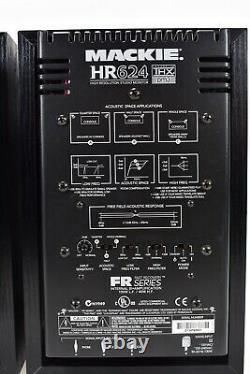 Pair Mackie HR624 Powered Active Studio Monitor Speaker GREAT