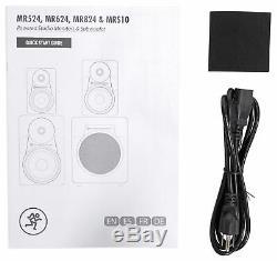 Pair Mackie MR524 5 50 Watt Powered Active Studio Monitor Speakers+29 Stands