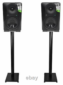 Pair Mackie MR624 6.5 65 Watt Powered Active Studio Monitor Speakers+37 Stands