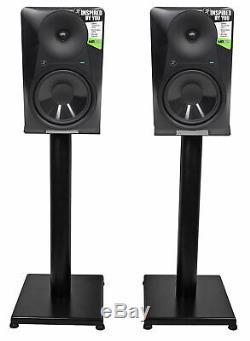 Pair Mackie MR824 8 85 Watt Powered Active Studio Monitor Speakers+21 Stands