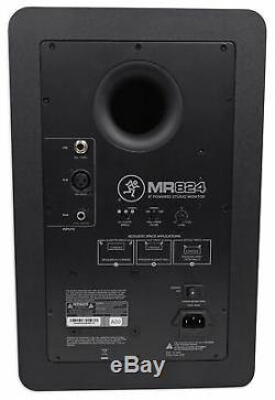 Pair Mackie MR824 8 85 Watt Powered Active Studio Monitor Speakers+37 Stands