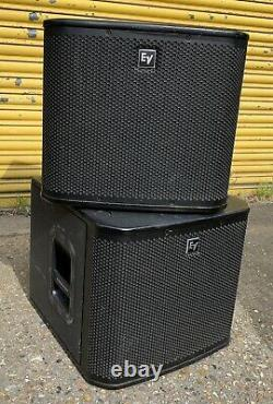 Pair Of Electro-Voice ZXA1-Sub 12 700W Active Powered Subwoofer Bass Bins