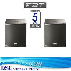 Pair Of Fbt X-sub15sa Powered 15 Active Subwoofers X-lite Sub 15sa